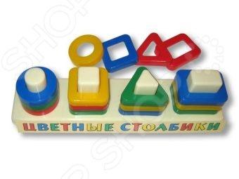 Игрушка-сортер развивающая Аэлита «Цветные столбики»