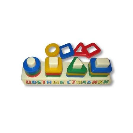 Купить Игрушка-сортер развивающая Аэлита «Цветные столбики»