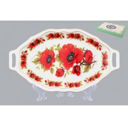 Купить Блюдо для нарезки Elan Gallery «Маки»