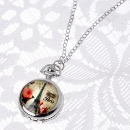 Купить Кулон-часы Mitya Veselkov «Париж с красными цветами»