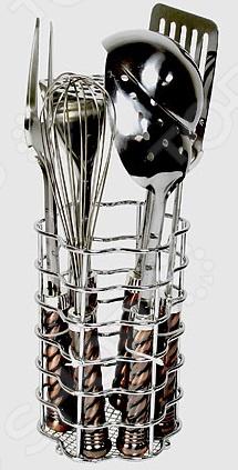 Набор кухонных принадлежностей Super Kristal SK-3675Наборы кухонных принадлежностей<br>Набор кухонных принадлежностей Super Kristal SK-3675 станет отличным дополнением к комплекту кухонной утвари. В набор входят семь предметов: толкушка для картофеля, половник, венчик, лопатка, вилка, шумовка и подставка для хранения. Торговая марка Super Kristal это синоним первоклассного качества и стильного современного дизайна. Компания занимается производством и продажей кухонных инструментов, аксессуаров, посуды и т.д. Функциональность, практичность и инновационные решения вот основные принципы торгового бренда Super Kristal.<br>