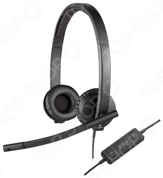 Гарнитура Logitech Headset H570e STEREO USB наушники с микрофоном logitech headset h390 usb