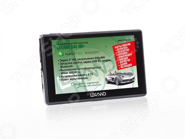 Навигатор Lexand SA5 HD+ gps навигатор lexand sa5 hd 5 авто 4гб navitel 8 7 с расширенным пакетом картографии черный