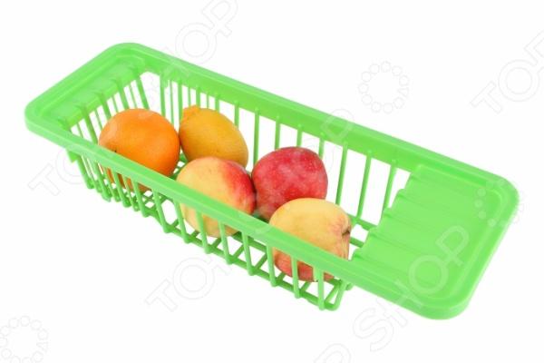 Сушилка для посуды и продуктов Ruges «Капли»Сушилки для посуды<br>Сушилка для посуды и продуктов Ruges Капли поможет решить проблему нехватки пространства для сушки и хранения столовых приборов, овощей и фруктов. Сушилка может служить основным или дополнительным местом, где можно с комфортом разложить тарелки и другие кухонные принадлежности. Забудьте о подносах и полотенцах, которые не только занимают много места на столе, но и разводят сырость по всей кухне! Особое преимущество данной модели заключается в практичной конструкции в форме корзины. Полезное пространство составляет 30х19х9,5 см. Сушилку можно легко установить в раковине, тогда вся вода будет стекать в сток. При желании это приспособление можно использовать в качестве оригинальной подставки для промывания овощей, фруктов и крупной зелени. Сушилка проста в уходе и использовании.<br>