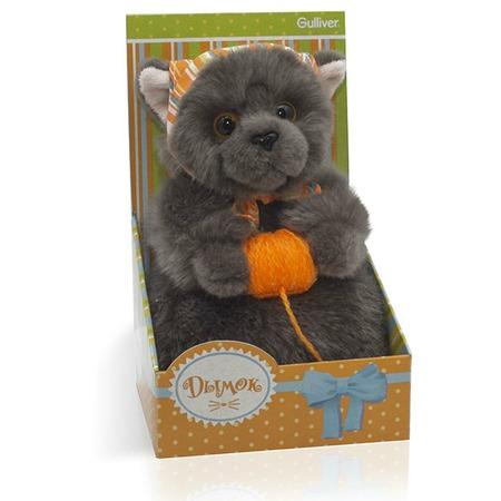 Купить Мягкая игрушка Gulliver «Котик Дымок в косынке с клубком»