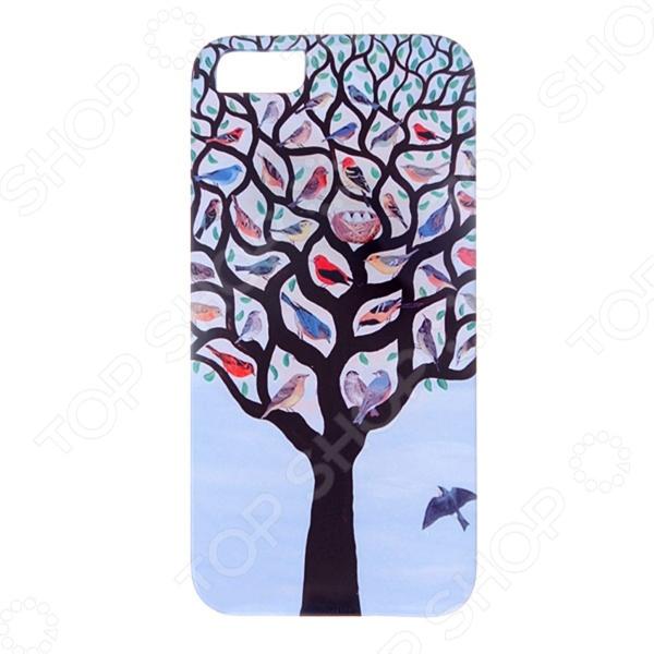 Чехол для iPhone 5 Mitya Veselkov «Дерево с птичками» чехол для iphone 5 printio с именем анна
