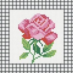 фото Набор для создания мозаики Белоснежка «Розовая роза»