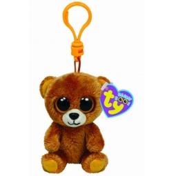 фото Мягкая игрушка с клипсой TY Медведь HONEY. Высота: 12,5 см