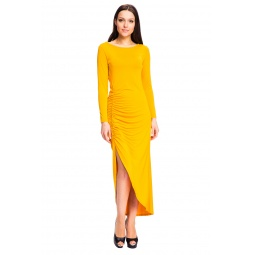 фото Платье Mondigo 7077. Цвет: ярко-горчичный. Размер одежды: 44