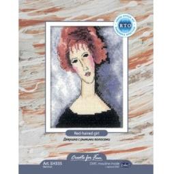 Купить Набор для вышивания крестиком RTO «Девушка с рыжими волосами»