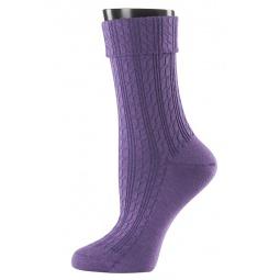 фото Носки женские Teller Wool Knit. Цвет: фиолетовый