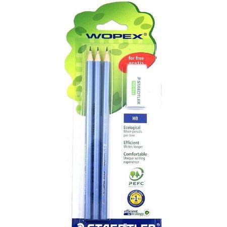 Купить Набор карандашей с ластиком Staedtler 180SPBK3GB
