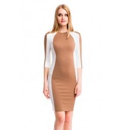 фото Платье Mondigo 5156-1. Цвет: молочный. Размер одежды: 46