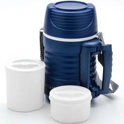 фото Термос с контейнерами Mayer&Boch Wavy. Объем: 700 мл. Цвет: белый, синий