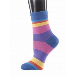 фото Носки женские Teller Funky Stripes. Цвет: синий. Размер: 39-41