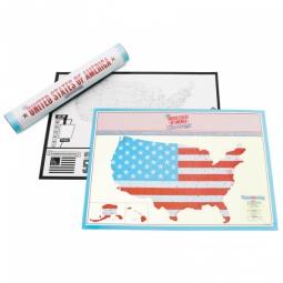 Купить Карта путешественника Scratch Америка