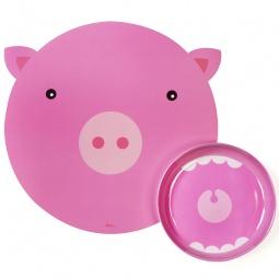 Купить Миска с ковриком Doiy Hungry pig