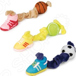 Игрушка для собак Beeztees «Мячик и ботинок на эластичной связке». В ассортименте игрушка для собак beeztees ослик 619691