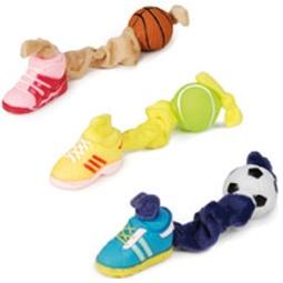 фото Игрушка для собак Beeztees «Мячик и ботинок на эластичной связке». В ассортименте