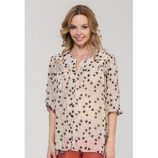 Купить Блузка для беременных Nuova Vita 1336.01. Цвет: коричневый
