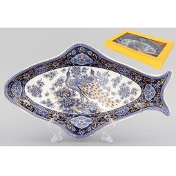Купить Блюдо Elan Gallery «Павлин синий»