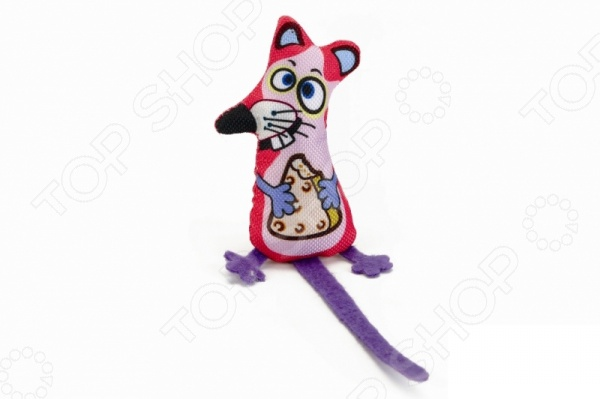 Игрушка для кошек Beeztees «Мышонок с сыром» игрушка головоломка для кошек beeztees найди лакомство диаметр 22 см
