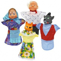 фото Набор для кукольного театра Русский стиль «Волк и лиса»