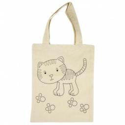 Купить Сумка хлопковая с контуром рисунка Rayher «Котенок»