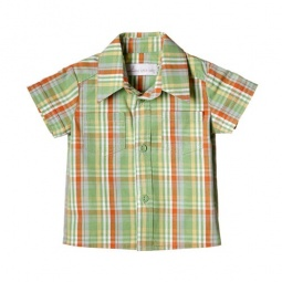 Купить Детская рубашка Katie Baby London bus. Цвет: зеленый