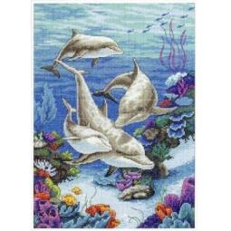 фото Набор для вышивания Dimensions «Дельфинье царство»