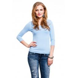 фото Кофта Mondigo 023. Цвет: голубой. Размер одежды: 46