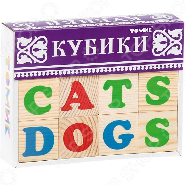 Кубики деревянные Томик «Алфавит английский»
