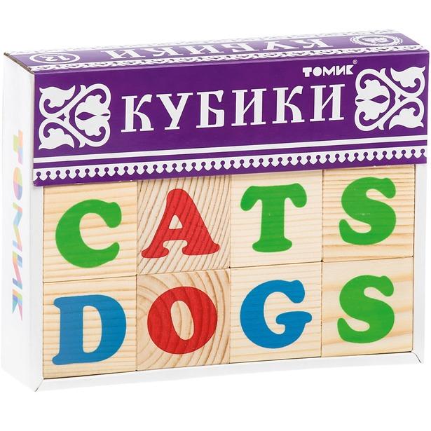 фото Кубики деревянные Томик «Алфавит английский»
