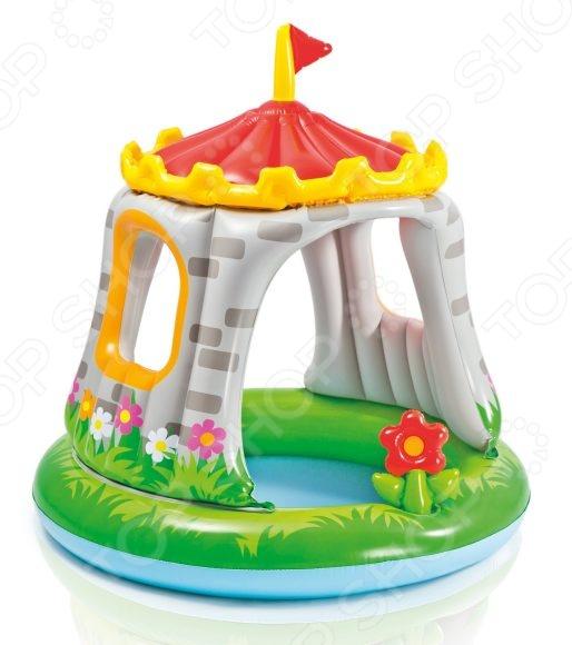 Бассейн надувной детский Intex «Замок» 57122NP надувной бассейн intex волны 114 х 25 см от 3 лет с59419