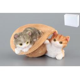 Купить Фигурка декоративная Elan Gallery Два котенка и шляпа