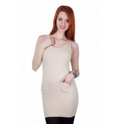 фото Платье Mondigo 9401М. Цвет: бежевый. Размер одежды: 46