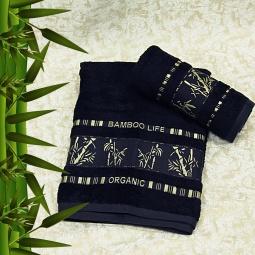 фото Полотенце махровое Mariposa Tropics d.navy. Размер полотенца: 50х90 см