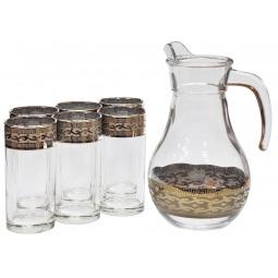 Набор: кувшин и 6 стаканов Гусь Хрустальный «Версаче»