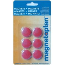 фото Набор магнитов в блистере Magnetoplan. Цвет: красный