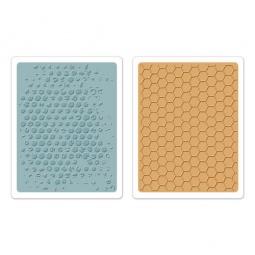 фото Форма для эмбоссирования Sizzix Texture Fades Пузырьки и соты