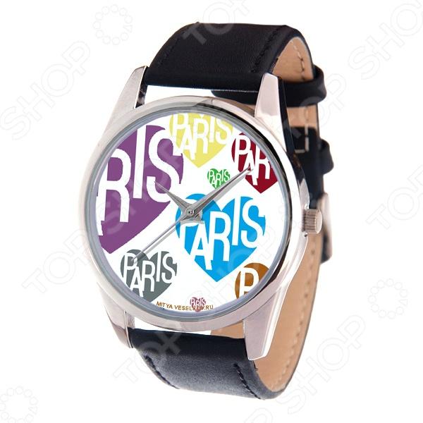 Часы наручные Mitya Veselkov «Цветные сердца и Париж» MV часы наручные mitya veselkov париж mv 002