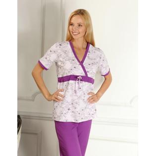 Купить Пижама для беременных Nuova Vita 207.1. Цвет: лиловый, фиолетовый