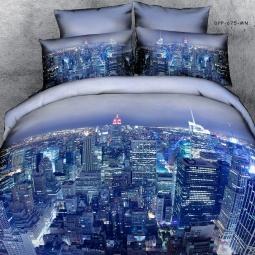 фото Комплект постельного белья с эффектом 3D Buenas Noches City. Евро