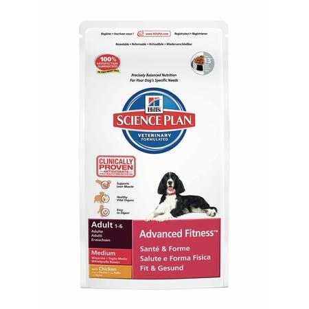 Купить Корм сухой для собак средних пород Hill's Science Plan Advanced Fitness Medium с курицей