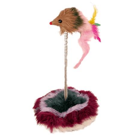 Купить Игрушка для кошек Beeztees «Мышь на пружине» 430311. В ассортименте