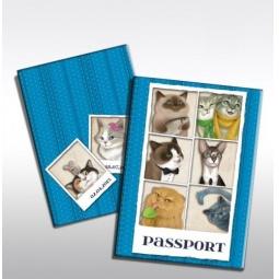 фото Обложка для паспорта Феникс-Презент «Кошечки»