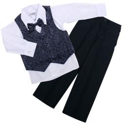 Купить Комплект для мальчиков: рубашка, бабочка, жилет и брюки Rodeng ЯВ115461