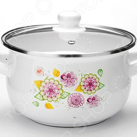 Кастрюля с крышкой Mayer&amp;amp;Boch «Цветы»Кастрюли<br>Кастрюля с крышкой Mayer Boch Цветы посуда для повседневной готовки, станет незаменимым помощником на кухне. Кастрюля предназначена для приготовления самых различных блюд, в ней можно сварить первые блюда, а так же потушить овощи, мясо и рыбу. Кастрюля выполнена из высококачественных материалов, что значительно продлевает срок ее службы. Равномерное распределение тепла способствует ускорению процесса приготовления блюд, при этом сохраняются все полезные вещества и витамины. Кастрюля оснащена удобными ручками. Так же в комплект входит крышка из жаропрочного стекла с удобной ручкой, которая позволит сохранить вкус и аромат приготавливаемого блюда.<br>