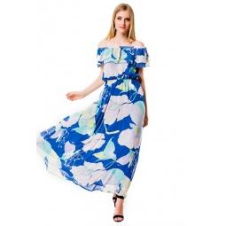 фото Платье Mondigo 5101. Цвет: джинсовый. Размер одежды: 44