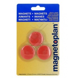 фото Набор магнитов в блистере Magnetoplan Junior. Цвет: красный
